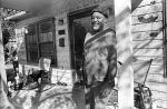 """Big Mike, my neighbor, has lived in this house for his entire 51 years. """"This was my Momma's house, I'll never sell this house."""" He  is seeing his neighborhood being gentrified around him. Oak Grove Avenue."""