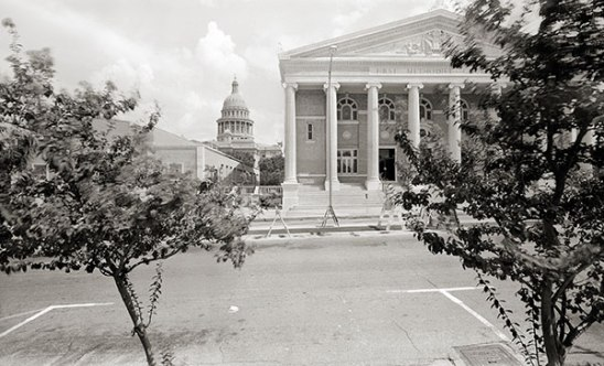 First Methodist Church (1201 Lavaca Street), Looking East, Toward the State Capitol. (1983)
