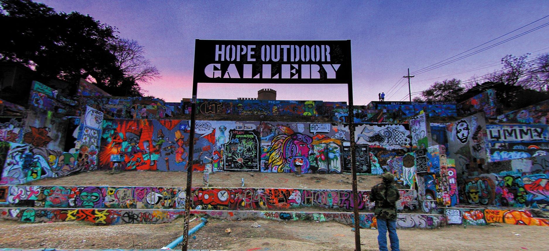 5058f39bda9 Keeping Austin Weird  Graffiti and Urban Branding · hope gallery