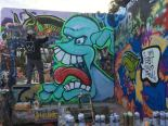 Sachin Mistry blue teeth man grafitti